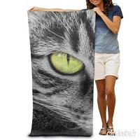 Annays Green Eyed Cat Lightweight Absorbent Quick-Drying Spa Towels Swimsuit Bath and Shower Towel Beach Blanket for Women,Men 80x130cm 31.5x51.2inches - B07VRX6R23