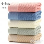 qingfeng Towel Household Cotton Thickened Water Soft Comfortable Wash Face Towel 5 Packs 73x33cm Transparent - B07VK193TR