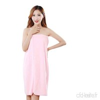 WSJYJ Serviette De Bain Bath Skirt Robe Solid Color Wearable Tube Top Bathrobe Absorbent Towel Wrapped Chest Apron Applicable 80-160 Kg - B07KPH44WG
