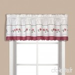 United Curtain Gingham Embroidered Valance  60 by 14-Inch  Red by United Curtain - B01NCWC8FM