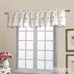 United Curtain Loretta Embroidered Sheer Shaped Valance  52 by 18-Inch  White/Blue by United Curtain - B017N2T8X2
