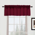 United Curtain Metro Woven Straight Valance  54 by 16-Inch  Burgundy by United Curtain - B01NCW5134