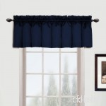 United Curtain Metro Woven Straight Valance  54 by 16-Inch  Navy by United Curtain - B01NCWFYNT