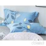 KLGG Cotton Pillowcase and Pillow Set Double Student Cotton Pillow Protection Cervical Pillow Light Blue - B07VPK43L2
